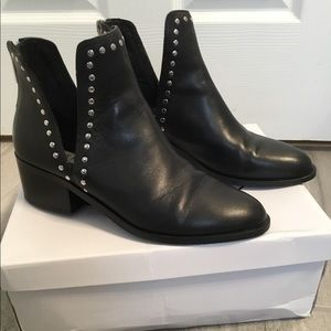 Steve Madden Conquest Black Studded Bootie